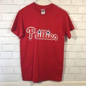 Retro Shirts - Retro Philadelphia Phillies Pullover Tshirt 8464d2f5ca4